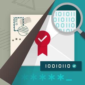 Bild Digitalisierung von der Postkarte zur sicheren E-Mail