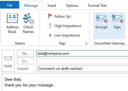 Email Encryption Gateway – Z1 SecureMail Gateway