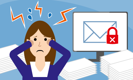 The error rate rises with the increase in the number of emails