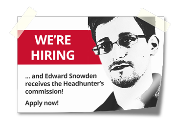 Edward Snowden will receive headhunter commission for Berlin IT security job applicants