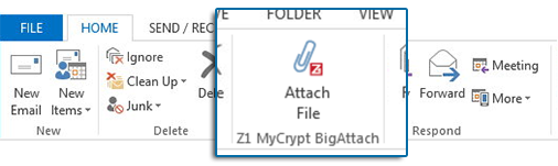 Z1 MyCrypt BigAttach for MS Outlook