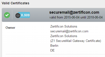 S/MIME Domain certificate at Z1 Global TrustPoint